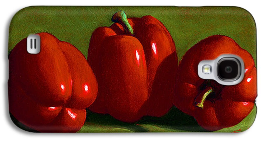 Red Peppers Galaxy S4 Case featuring the painting Red Peppers by Frank Wilson