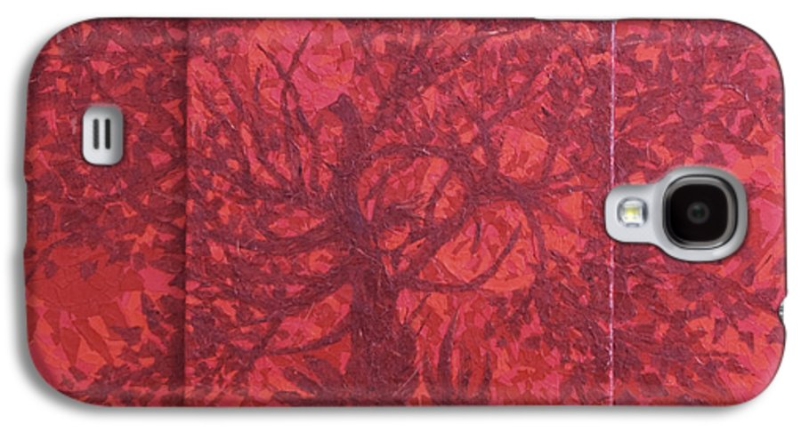 Red Galaxy S4 Case featuring the painting Red Planet by Judy Henninger
