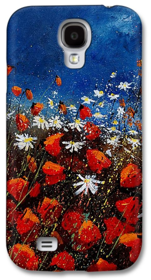 Flowers Galaxy S4 Case featuring the painting Red Poppies 451108 by Pol Ledent