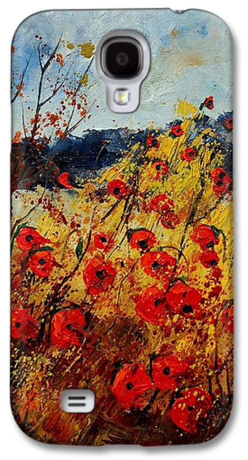 Poppies Galaxy S4 Case featuring the painting Red Poppies In Provence by Pol Ledent