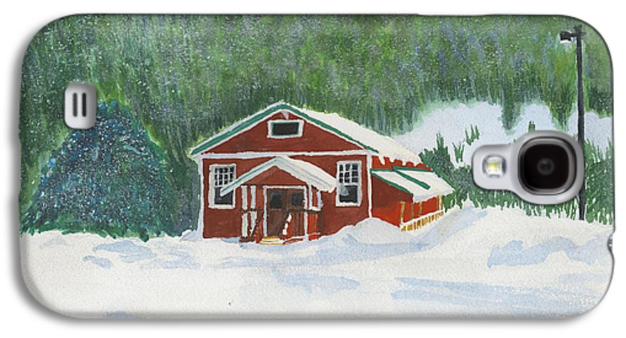 Schoolhouse Galaxy S4 Case featuring the painting Red School House by Louise Magno