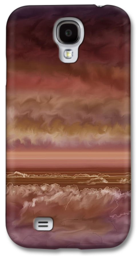 Sunset Galaxy S4 Case featuring the painting Red Sky At Night Sailor Delight by Anne Norskog