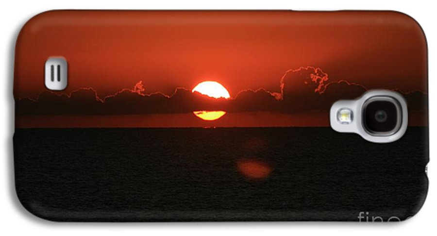 Sunset Galaxy S4 Case featuring the photograph Red Sunset Over The Atlantic by Nadine Rippelmeyer