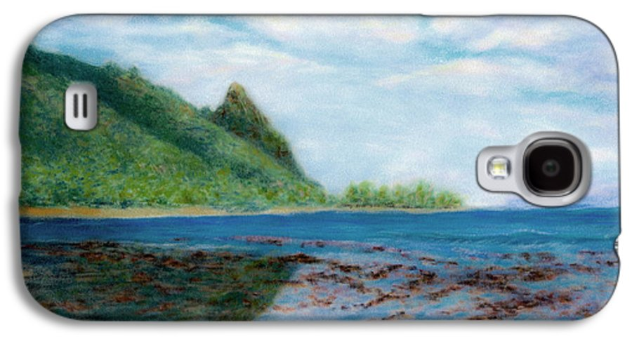 Rainbow Colors Pastel Galaxy S4 Case featuring the painting Reef Walk by Kenneth Grzesik