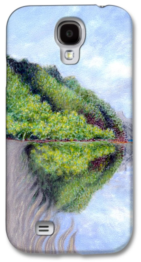 Coastal Decor Galaxy S4 Case featuring the painting Reflection by Kenneth Grzesik