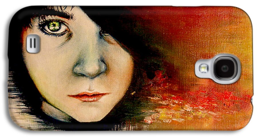 Sunset Galaxy S4 Case featuring the painting Regaining Strenght by Freja Friborg