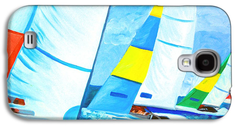 Sailing Galaxy S4 Case featuring the painting Regatta by Michael Lee