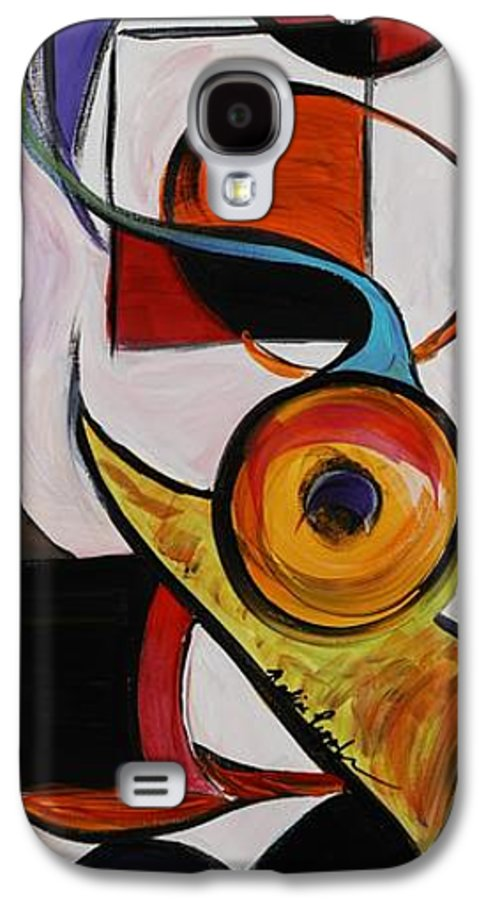 Shapes Galaxy S4 Case featuring the painting Relationships by Nadine Rippelmeyer