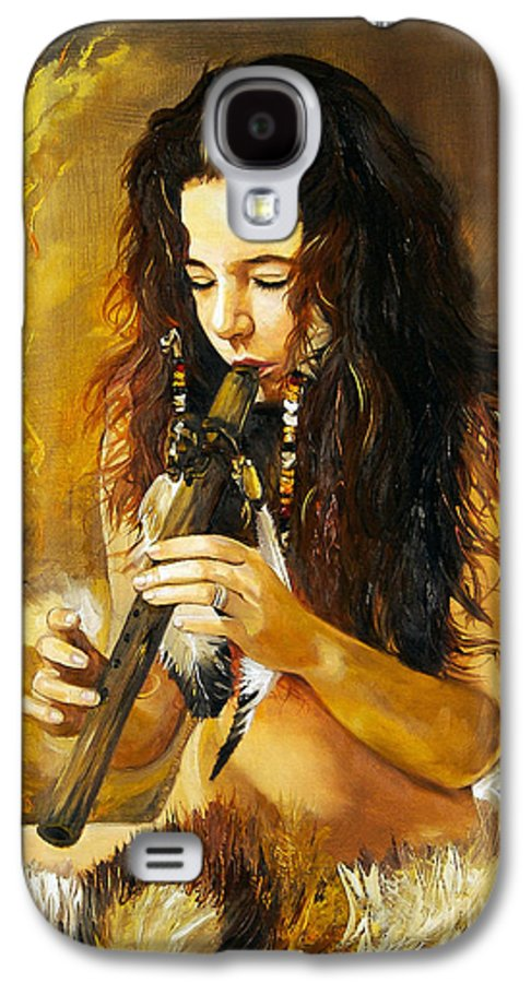 Woman Galaxy S4 Case featuring the painting Release by J W Baker