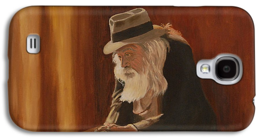 Man Galaxy S4 Case featuring the painting Remembrance by Quwatha Valentine