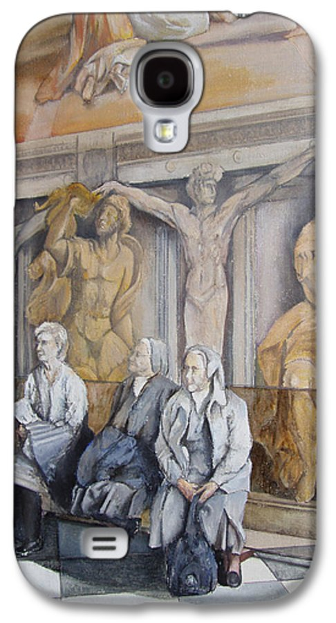 Vaticano Galaxy S4 Case featuring the painting Reposo En El Vaticano by Tomas Castano