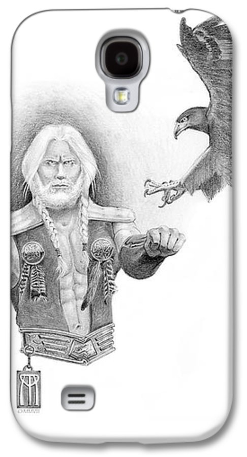 Barbarian Galaxy S4 Case featuring the painting Revan Ramstedder by Melissa A Benson