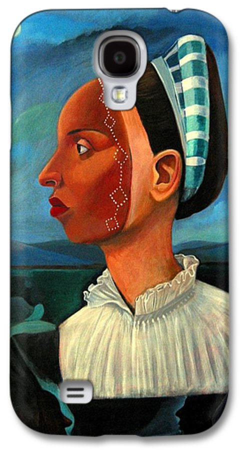 Woman Galaxy S4 Case featuring the painting Revealed Truths And Myths IIi by Joyce Owens