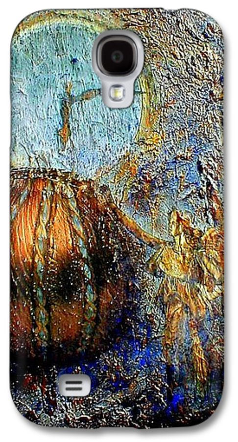 Christian Galaxy S4 Case featuring the mixed media Revelation by Gail Kirtz