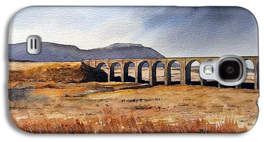 Landscape Galaxy S4 Case featuring the painting Ribblehead Viaduct by Paul Dene Marlor