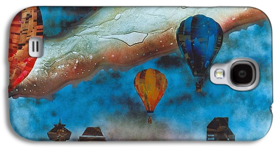 Landscape Galaxy S4 Case featuring the painting Riding The Chinook by Rick Silas
