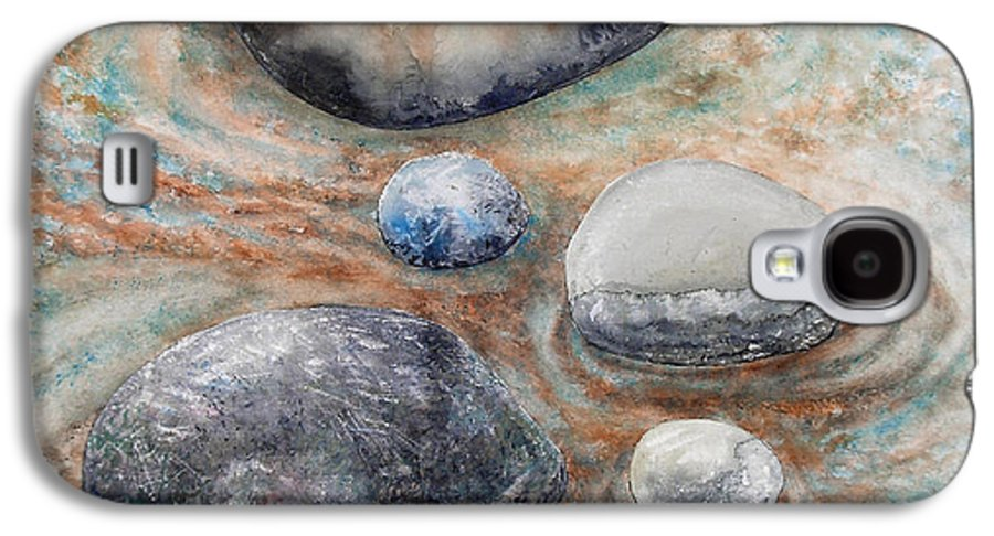 Abstract Galaxy S4 Case featuring the painting River Rock 2 by Valerie Meotti