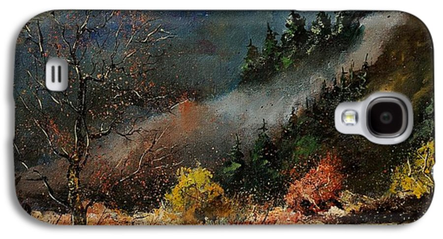 River Galaxy S4 Case featuring the painting River Semois by Pol Ledent