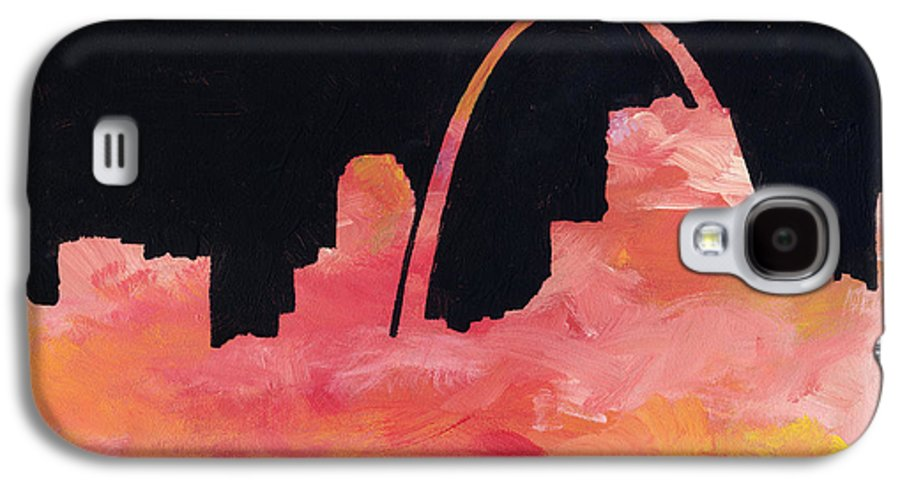 Cityscape Galaxy S4 Case featuring the painting Riverfront by Joseph A Langley