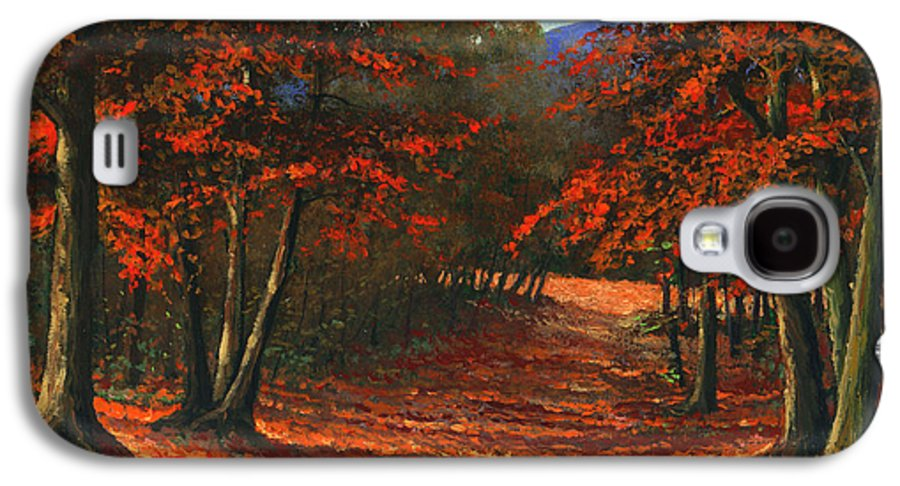 Landscape Galaxy S4 Case featuring the painting Road To The Clearing by Frank Wilson