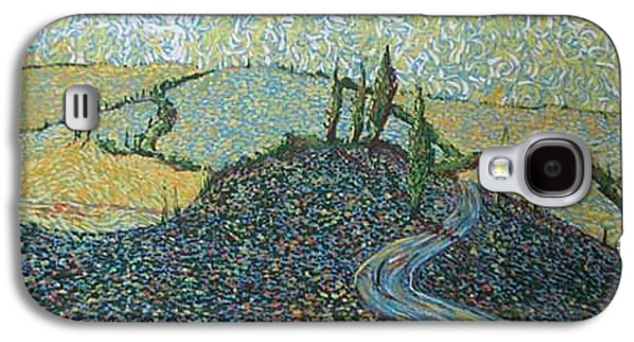 Landscape Galaxy S4 Case featuring the painting Road To Tuscany by Stefan Duncan