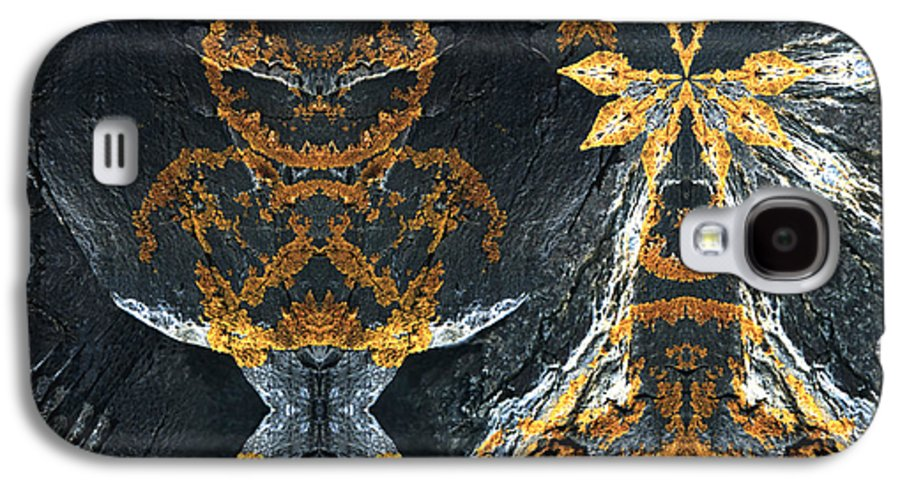 Rocks Galaxy S4 Case featuring the digital art Rock Gods Lichen Lady And Lords by Nancy Griswold