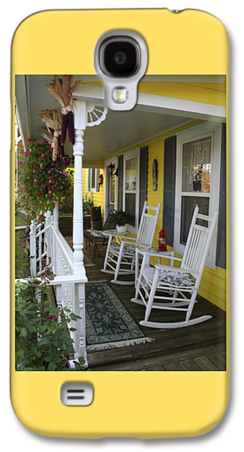 Rocking Chair Galaxy S4 Case featuring the photograph Rockers On The Porch by Margie Wildblood