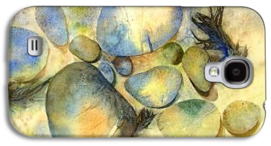 Rocks And Feathers Galaxy S4 Case featuring the painting Rocks And Feather by Marlene Gremillion
