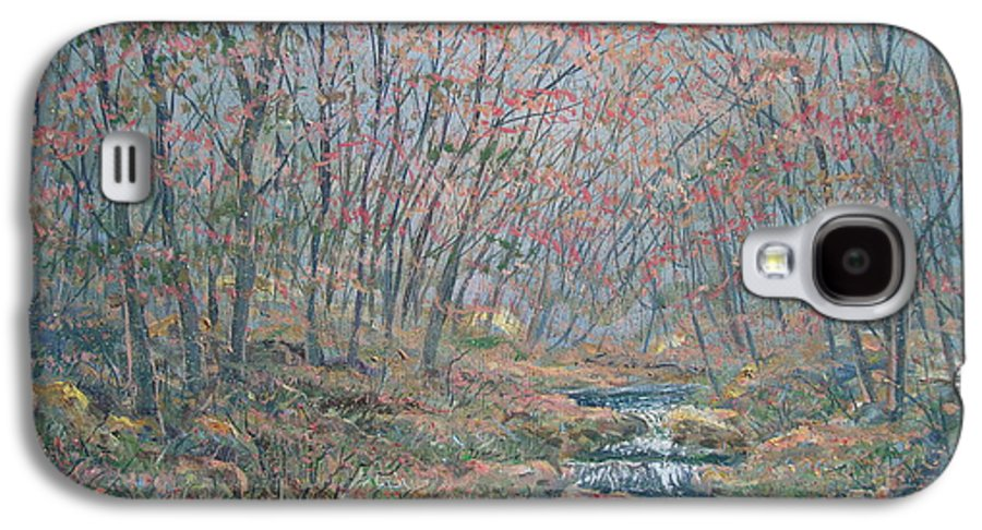 Painting Galaxy S4 Case featuring the painting Rocky Forest. by Leonard Holland