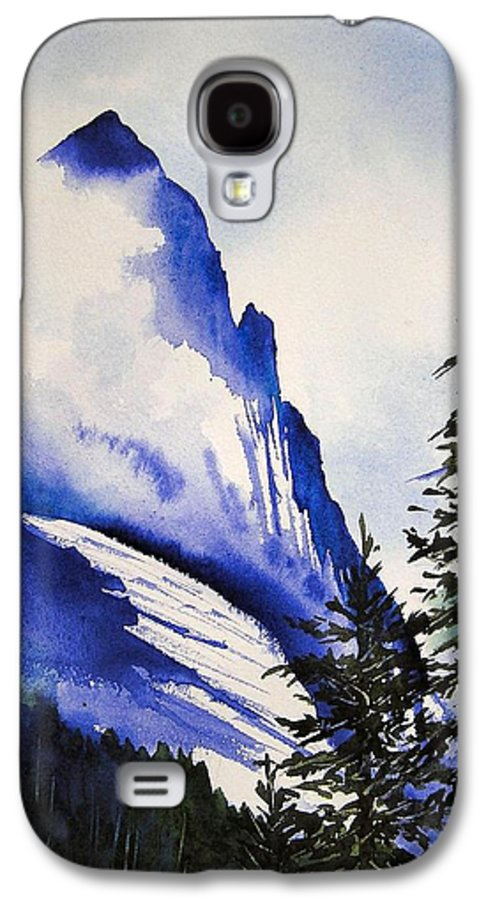 Rocky Mountains Galaxy S4 Case featuring the painting Rocky Mountain High by Karen Stark