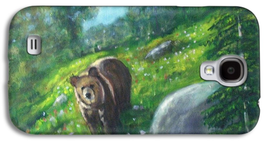 Wildlife Galaxy S4 Case featuring the painting Rocky Mountain Spring by Darla Joy Johnson