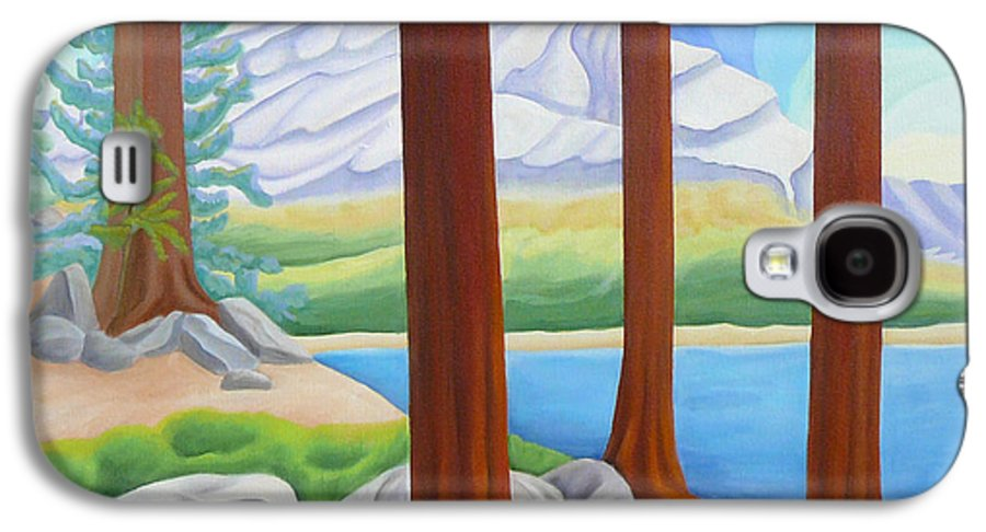 Landscape Galaxy S4 Case featuring the painting Rocky Mountain View 1 by Lynn Soehner