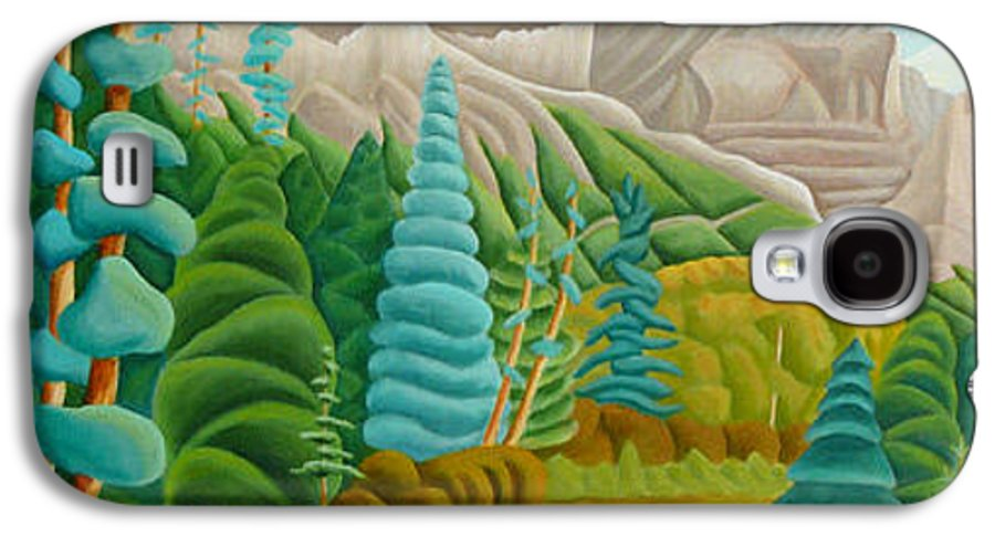 Landscape Galaxy S4 Case featuring the painting Rocky Mountain View 2 by Lynn Soehner