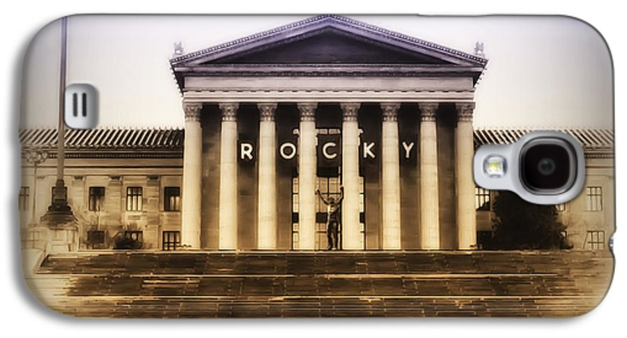 Rocky Balboa Galaxy S4 Case featuring the photograph Rocky On The Art Museum Steps by Bill Cannon