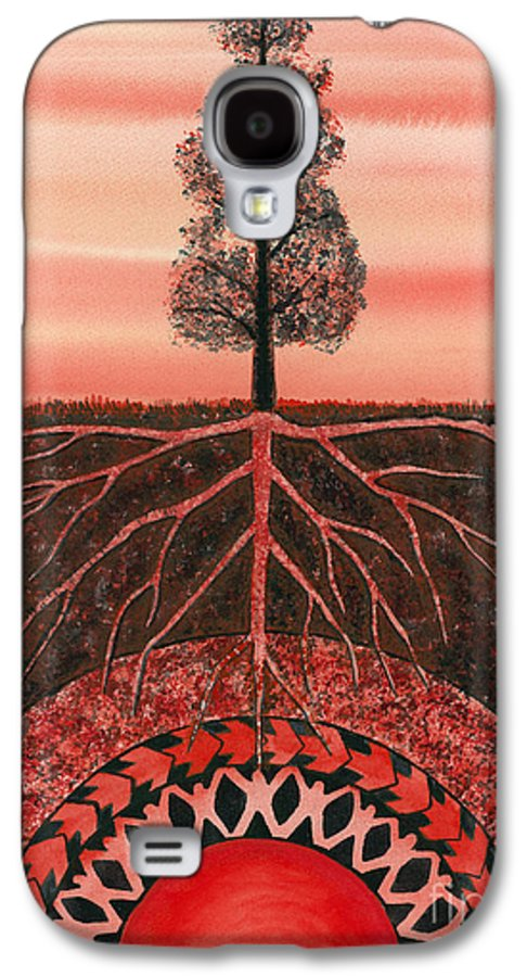 Chakra Galaxy S4 Case featuring the painting Root Chakra by Catherine G McElroy