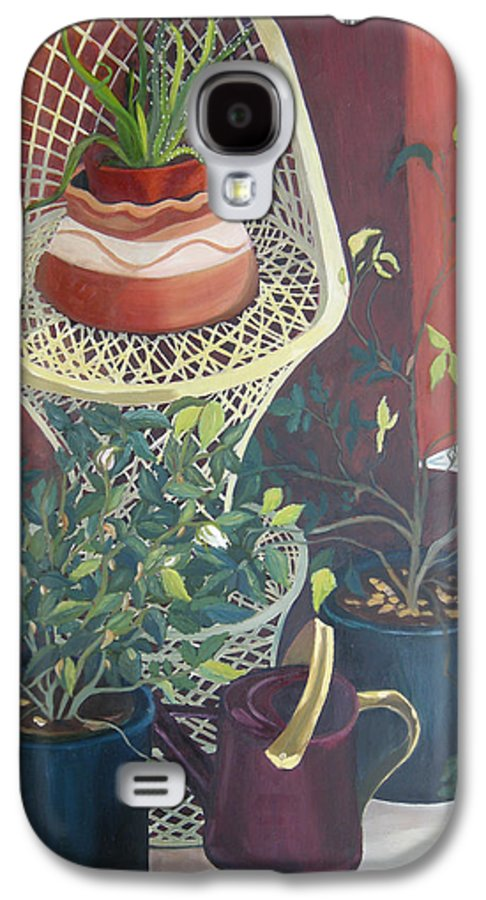 Still Life Galaxy S4 Case featuring the painting Rose Buds by Antoaneta Melnikova- Hillman
