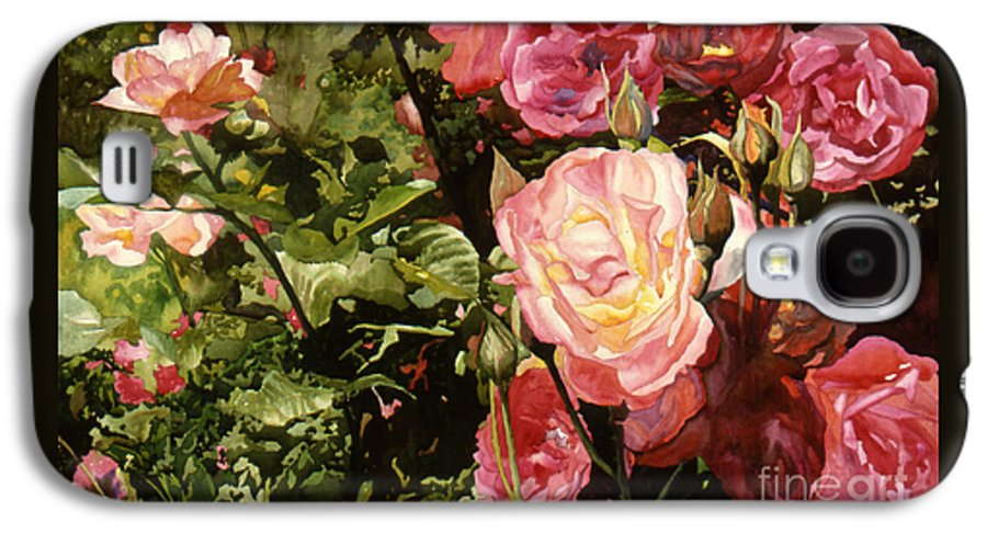 Watercolor Galaxy S4 Case featuring the painting Rose Garden by Teri Starkweather