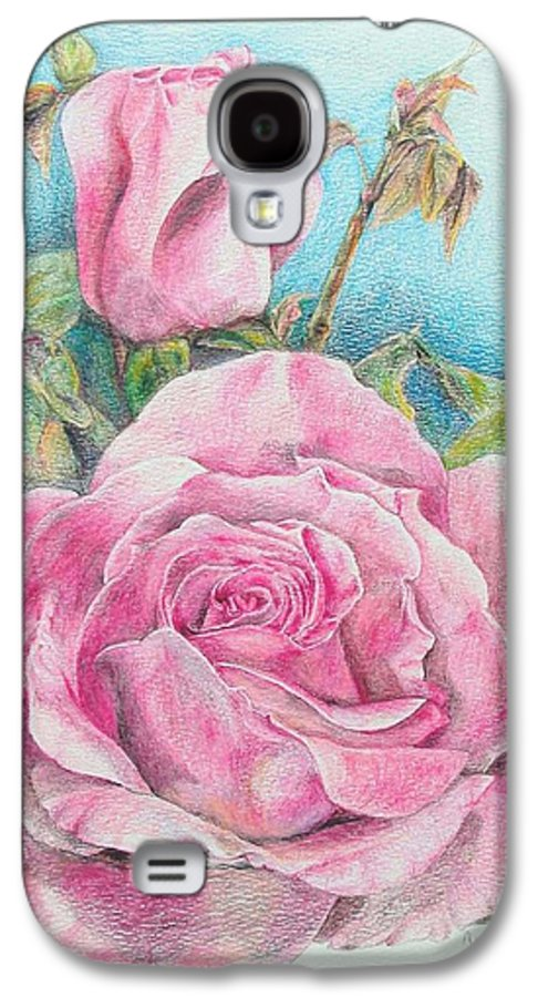Flower Galaxy S4 Case featuring the painting Rose by Muriel Dolemieux