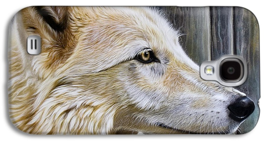 Wolves Galaxy S4 Case featuring the painting Rose by Sandi Baker