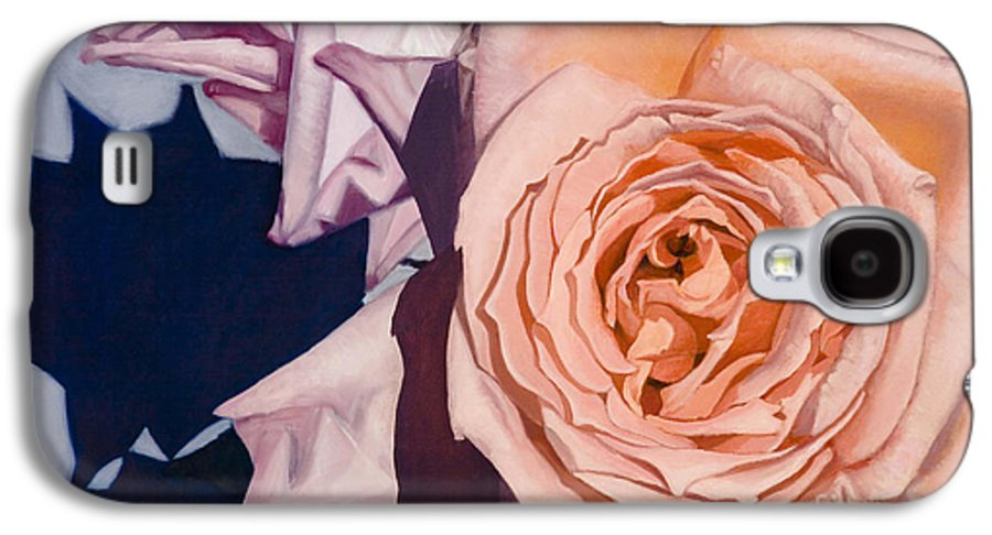 Roses Galaxy S4 Case featuring the painting Rose Splendour by Kerryn Madsen-Pietsch