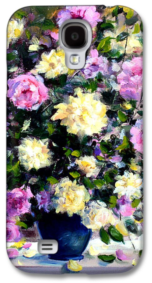 Roses Galaxy S4 Case featuring the painting Roses by Mario Zampedroni