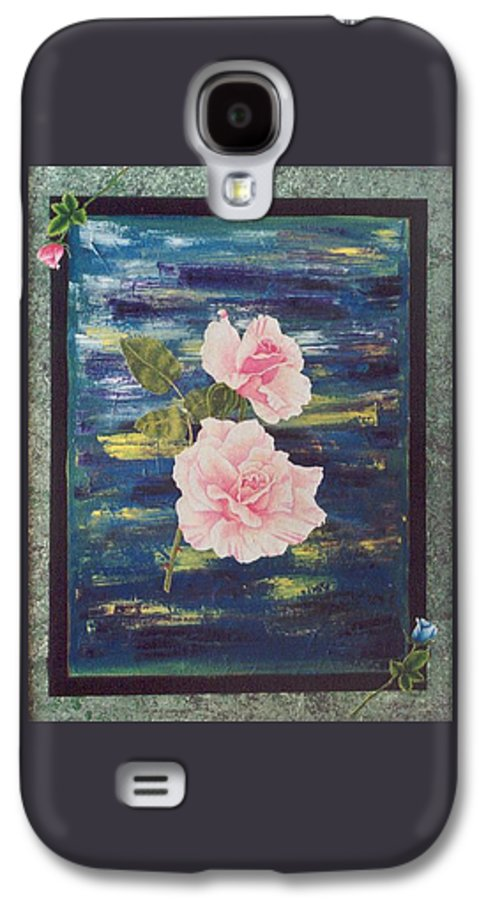 Rose Galaxy S4 Case featuring the painting Roses by Micah Guenther