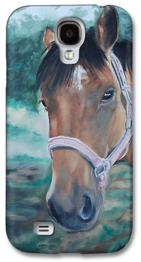 Horse Galaxy S4 Case featuring the painting Rosie by Margaret Fortunato