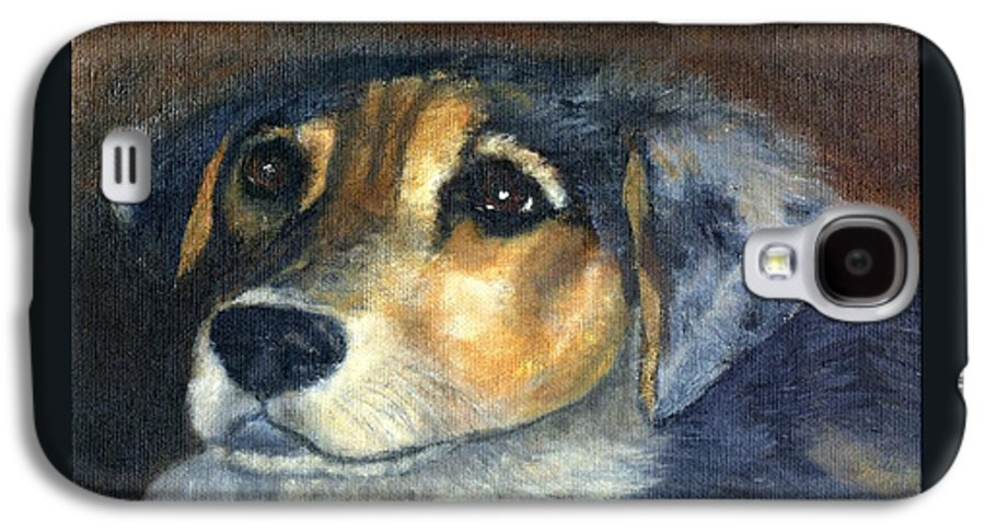 Dog Galaxy S4 Case featuring the painting Roxie by Gail Kirtz