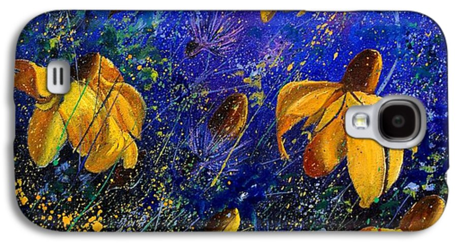Poppies Galaxy S4 Case featuring the painting Rudbeckia's by Pol Ledent