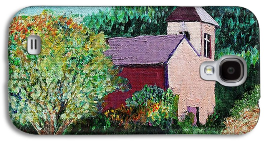 Church Galaxy S4 Case featuring the painting Ruidoso by Melinda Etzold