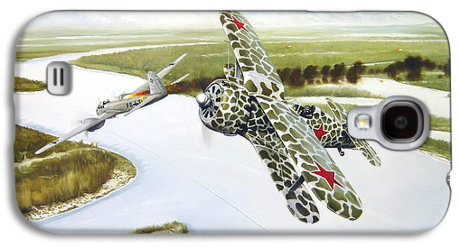Aviation Galaxy S4 Case featuring the painting Russian Roulette by Marc Stewart