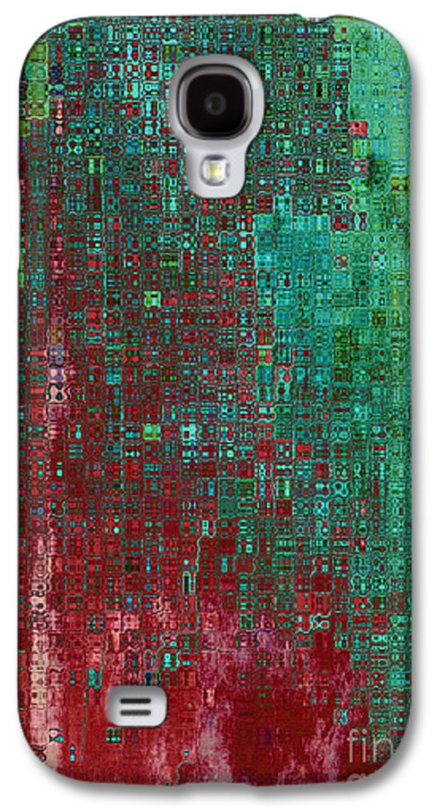 Abstract Galaxy S4 Case featuring the digital art Rust Abstract by Carol Groenen