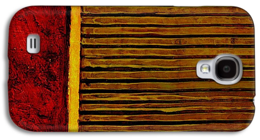 Rustic Galaxy S4 Case featuring the painting Rustic Abstract One by Michelle Calkins