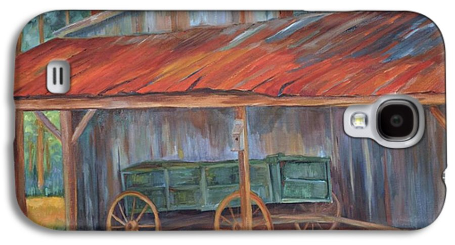 Old Wagons Galaxy S4 Case featuring the painting Rustification by Ginger Concepcion